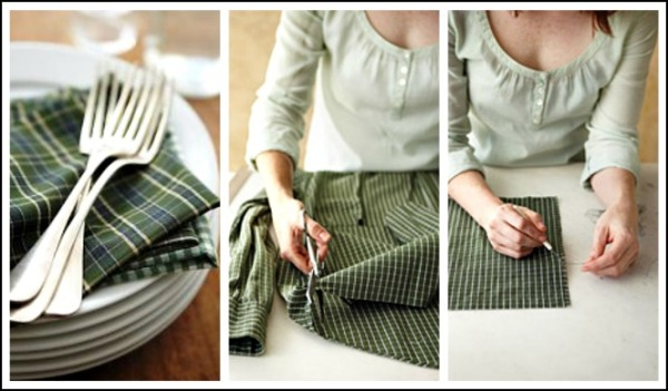 Obvs: the old becomes the new, you can take vintage fabric and transform it to house hold ware!